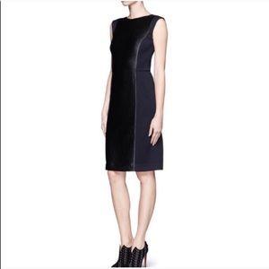 Tory Burch | Blue/Black Form Fitting Midi Dress
